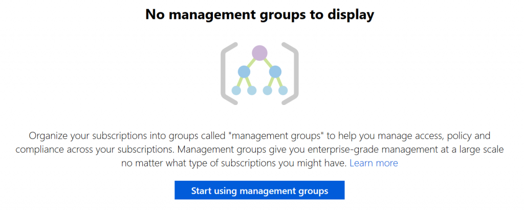 Azure Blueprints - Mgmt Group Mgmt site