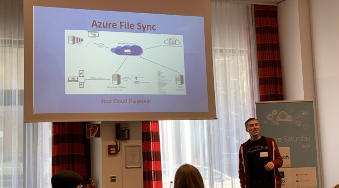 Azure File Sync session on Azure saturday