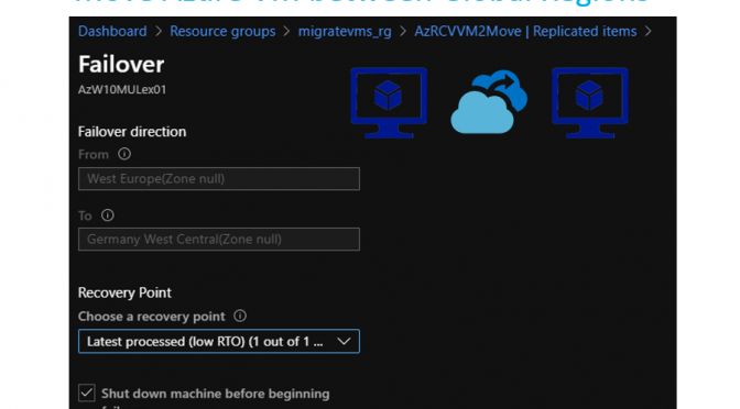 Move Azure VMs between Azure Global Regions